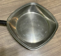 "Vtg Aristo Craft West Bend 18-8 4 Ply Stainless Steel 11"" Skillet Frypan USA"