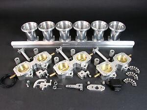 6 Cylinder DCOE 45mm Throttle Body Kit inc TPS Ram Tubes & Fuel Rail