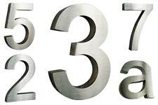 Hausnummer Edelstahl V2A H20cm H25cm H30cm Arial viele Designs im Shop