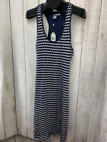 NWT Max Studio Tamara Knit Stretch Dress Sz XL Navy Blue Polka Dot $98