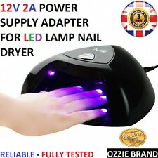 Qualità UK 12V 2A AC/DC Caricatore Alimentatore Adattatore Per Lampada a LED Nail Dryer