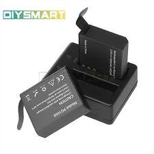 1Set PG1050 Rechargable Camera Dual Battery+Charger Eken V8s H8 H9 H8R H9R AU