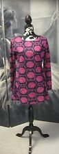 Dock Of The Bay Navy & Pink Floral Flower Tunic Top Size 12