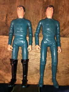 Lot of 2 VINTAGE MARX JOHNNY BEST OF THE WEST ACTION FIGURE ZEB ZACHARY