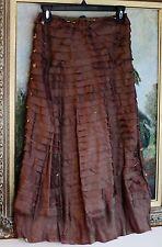 Chan Lu $398 couture posh layered silk skirt stretch m medium anthropologie