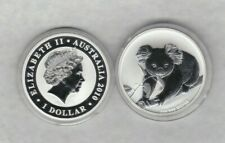 2010 AUSTRALIA ONE OUNCE SILVER DOLLAR KOALA IN MINT CONDITION WITH A CAPSULE