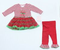 Bonnie Baby Girls Baby Christmas Holiday Outfit Dress - Size 3-6 Month NWT