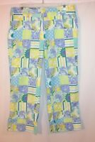 Lilly Pulitzer Capri Pants Women's Size 8 Abstract Pattern Multi Color Cropped