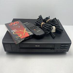 AKAI VS-G770 HIFI Stereo SCART VHS Video Recorder 6 Head Technology Vintage