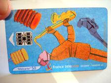 PHONECARD TELECARTE FRANCE TELECOM MUSIQUE JAZZ CARTE TRANSPARENTE