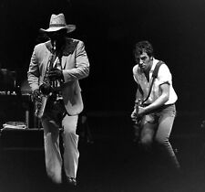 """8x10 (after matting) matted """"Bruce Springsteen"""" + Clarence vintage concert photo"""