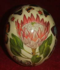 More details for ostrich egg decorated with flora & butterflies by maria-louise of cape town.