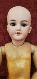 Antique German Bisque Socket Head Doll Simon & Halbig Santa 1249 DEP TLC 20 inch
