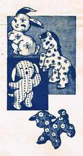 "Vintage Stuffed Toy PATTERN Rabbit Horse Puppy Lamb 8"" 10"" Quality COPY 1960s"