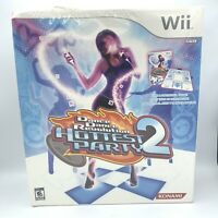 Konami Dance Revolution Hottest Party 2 Game & Controller Mat Nintendo Wii - NEW