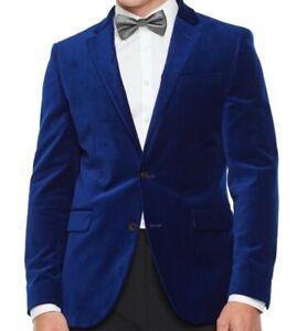 Men's J. Ferrar 38 Reg Men's Suit Jacket Coat Blue Velvet Slim Fit Stretch NWT