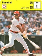 JIM RICE 1978 Sportscaster #38-10  - BOSTON RED SOX