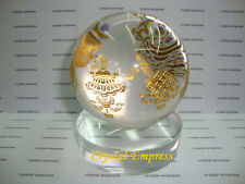 FENG SHUI - 8 AUSPICIOUS SYMBOLS CRYSTAL BALL (GOOD FORTUNE)