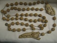 BEAUTIFUL LARGE 65'' ALABASTERITE WALL ROSARY CATHOLIC CHRISTIAN