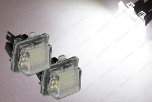 CanBus White LED License Plate Lights For Mercedes Benz C E W204 W221 W212 W216