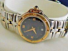 Mint Raymond Weil 9990 Parsifal Ladies SS/18K Gold Black Dial Quartz Watch Box