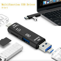 5 in 1 USB 3.0 Type C / USB / Micro USB TF SD Memory Card Reader OTG Adapter