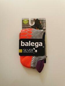 Balega Silver Supercharged Performance Antimicrobial Running Socks Grey UK 6-8