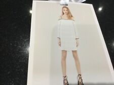 NWT Foxiedox New Ladies Small UK 8/10 White Belinda Lace Cold Shoulder Dress