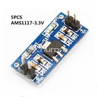 5PCS AMS1117-3.3V DC 4.5V-7V to 3.3V Power Supply Module Voltage Regulator