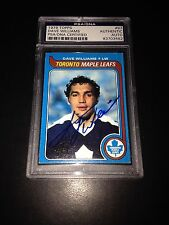 Dave Tiger Williams Signed 1979-80 Topps Maple Leafs Card PSA Slabbed #83703582
