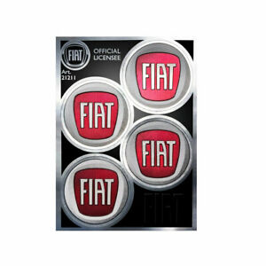Adesivo Copriruota per Fiat Ufficiale 4 Loghi da 48 mm