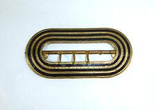 Antiguo Hebilla de cinturón hebilla para 1900 Francia / Suiza Esmalte