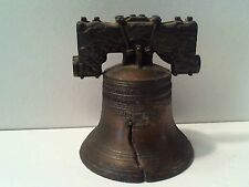 "Vintage Small Brass Liberty Bell Hand Bell / Service Bell Liberty Bell 2 1/"" H"