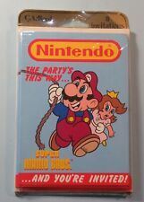 Nintendo Super Mario Invitation Cards Envelopes Unopened still Sealed pack of 8
