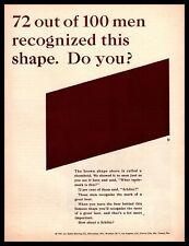 1961 Schlitz Beer Brown Glass Bottle Rhomboid Trademark Label Vintage Print Ad