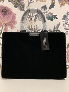 Lulu Guinness Vivienne Black Velour Bag (S-2)