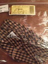 New ListingLongaberger Bread Basket Liner - Khaki Check Brand New!