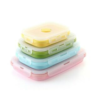 Lunch Box Food Container Storage Tableware Portable Bento Lunchbox Sets Silicone