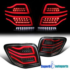 For 2006-2011 Mercedes ML-Class W164 Shiny Black LED Rear Brake Tail Lights