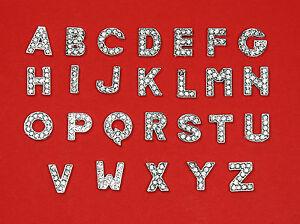 Hundehalsband Strass Buchstaben Lederband silber Armband Slide Letters
