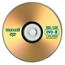 Maxell DVD-R Blank Disc Recordable DVD 16x 4.7GB 120mins 10 Discs In Sleeves
