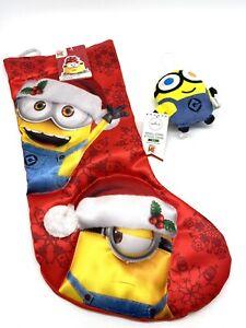 NWT Minion Christmas Stocking Despicable Me Kurt Adler Plush Hallmark