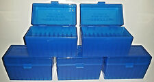 BERRY'S PLASTIC AMMO (5) 50 Round Storage Boxes For 30-40 Krag FREE SHIPPING