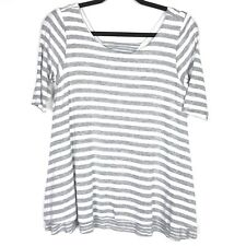 5553c9ab368 Anthropologie Puella Womens Top Size Small Striped Mix Tunic White Gray  Swing