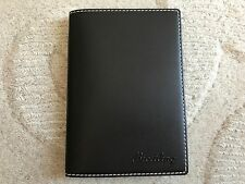 NEW BREITLING BROWN LEATHER CREDIT CARD COIN ZIPPER WALLET