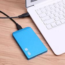 Blue 2TB USB 3.0 External Mobile Hard Drive Disk 2.5'' HDD Storage for Laptop