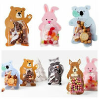 10/50X Cute Animal Cellophane Birthday Party Favour Candy Gift Bags Boards