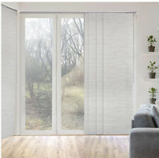 New Godear Design Natural Woven Sliding Window Panel Track - Marble