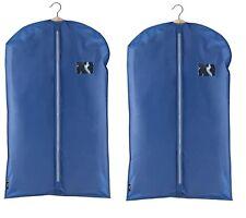 2 x DomoPak Dark Blue colour SUIT COVER carrier travel dress bag garment