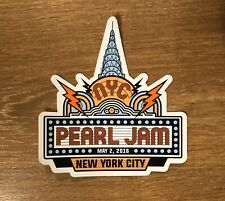 Pearl Jam - New York City NYC Sticker 2016 Tour Eddie Vedder New